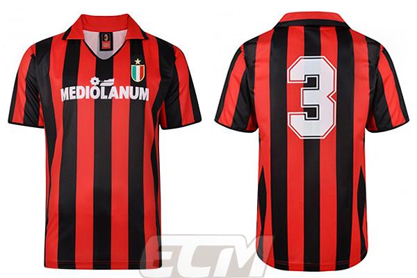 【予約SCD01】【国内未発売】ScoreDraw ACミラン 1988 ホーム 3番 マルディーニ 復刻モデル【スコアドロウ/サッカー/セリエA/ユニフォーム/AC Milan】