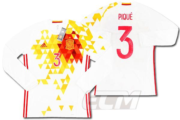【予約ECM32】【国内未発売】【SALE】スペイン代表 アウェイ 長袖 13番 ピケ プレイヤーズモデル【16-17/サッカー/ワールドカップ/PIQUE/ユニフォーム】