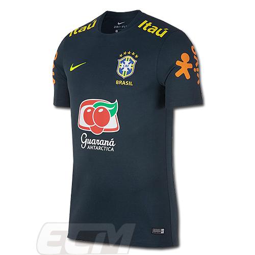 【オススメ】ブラジル代表 トレーニングトップ スポンサー付【サッカー/2019/セレソン/Brasil/ネイマール/Brazil】