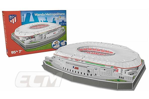 NAO01 アトレチコ マドリード オフィシャルグッズ ワンダ メトロポリターノ 賜物 スタジアム Atletico Madrid サッカー 3Dパズル 激安特価品 スペインリーグ お取り寄せ