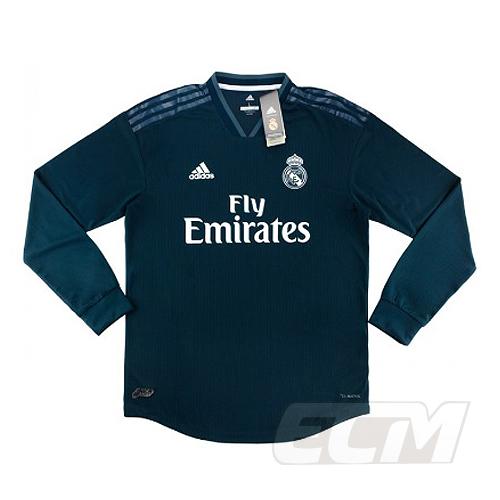 【予約ECM32】【国内未発売】レアルマドリード アウェイ 長袖 オーセンティック【サッカー/18-19/スペインリーグ/Real Madrid/ユニフォーム】