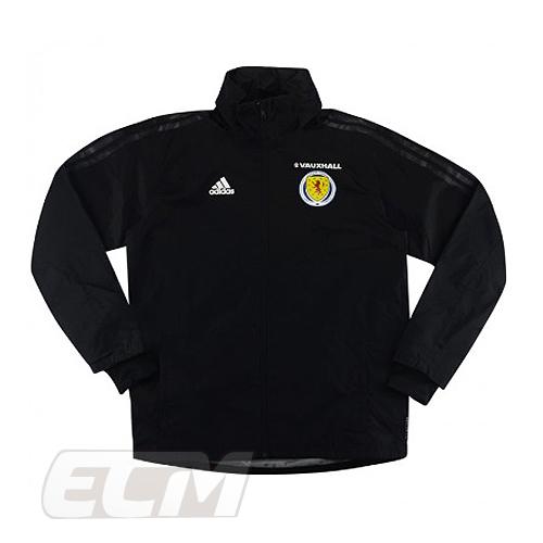 お歳暮 予約SCO01 国内未発売 SALE スコットランド代表 選手仕様 トレーニングレインジャケット ブラック Scotland 330 ECM32 トレーニング 選択 サッカー 17-18