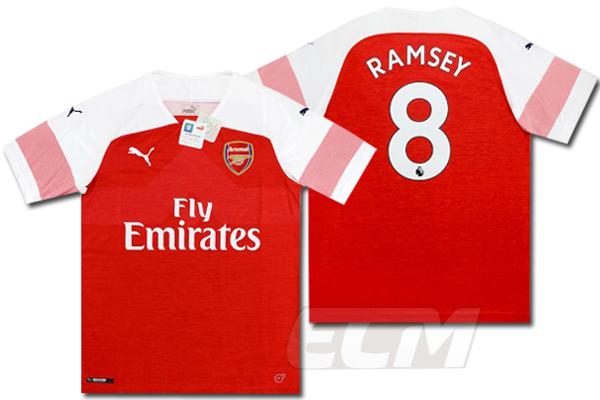 【予約ECM32】【SALE】アーセナル ホーム 半袖 8番 ラムジー【18-19/Arsenal/サッカー/プレミアリーグ/Ramsey】