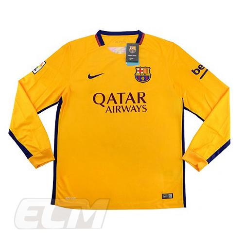【予約ECM32】【デッドストック】FCバルセロナ アウェイ 長袖【15-16/スペインリーグ/Barcelona/ユニフォーム】