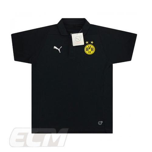 予約ECM32 国内未発売 セール品 SALE ジュニアボルシア ドルトムント ポロシャツ ブラック ジュニアサイズ Borussia ブンデスリーガ ネコポス対応可能 BVB1819 Dortmund 年末年始大決算 トレーニング 18-19 サッカー