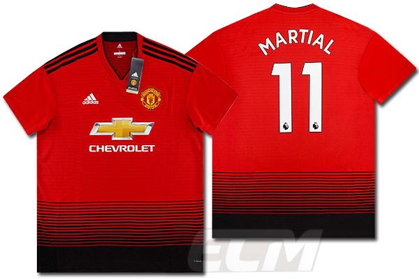 【予約ECM32】マンチェスターユナイテッド ホーム 半袖 11番マーシャル【18-19/Manchester United/サッカー/ユニフォーム】