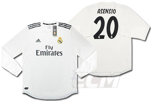 【予約ECM32】【国内未発売】レアルマドリード ホーム 長袖 オーセンティック 20番 アセンシオ【サッカー/18-19/スペインリーグ/Real Madrid/ユニフォーム】