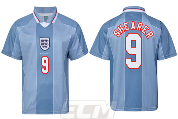 【予約SCD01】【国内未発売】ScoreDraw イングランド代表 1996 アウェイ モデル 9番シアラー【ENGLAND /サッカー/ワールドカップ/ユニフォーム】ScoreDraw
