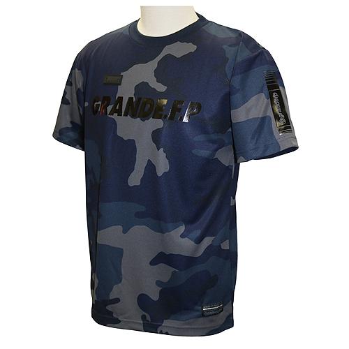 【GRN2019SS】GFPH19002GRANDE FP カモトレーニングメッシュTシャツ ネイビーxブラック【グランデ/サッカー/フットサル/トレーニング】ネコポス対応可能