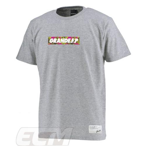 推奨 GRN2019SS GFPH19004GRANDEFP. 豊富な品 ハイビスカスラバープリント Tシャツ グレー グランデ ネコポス対応可能 トレーニング サッカー フットサル