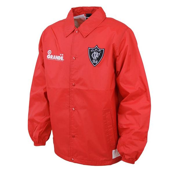 SALE30%OFF 日時指定 GS018 GRANDE ベーシックコーチ ジャケット サッカー ポーター レッド 新登場 グランデ フットサル