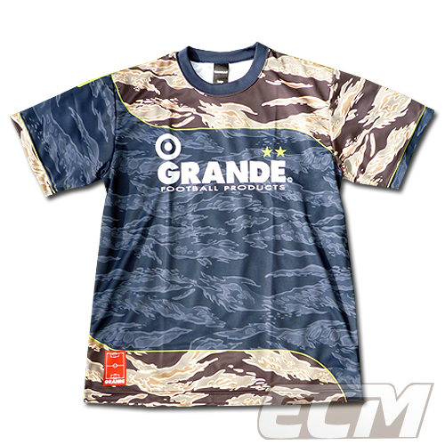 プラシャツ トレーニングウェア フットサルシャツ グランデ 【GRANDE】 レッド 練習着 トレーニングTシャツ サッカーシャツ GFPH15016 半袖 フットサル 赤 プラクティスシャツ