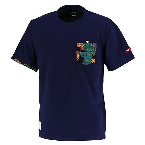 SALE25%OFF 店舗 GS018 GRANDE ALOHA ポケットTシャツ ネイビー 超特価SALE開催 サポーター グランデ GFPH18004 サッカー ネコポス対応可能 フットサル