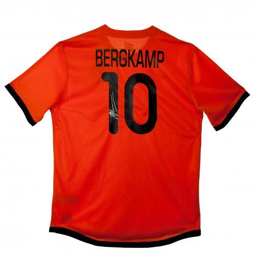 【予約ASS01】デニス・ベルカンプ直筆サイン入ユニフォーム オランダ代表【サッカー/メモラビリア/ワールドカップ/Holland/Bergkamp】