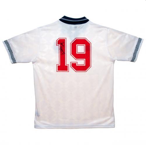 【予約ASS01】ポール・ガスコイン 直筆サイン入ユニフォーム イングランド代表【サッカー/メモラビリア/ワールドカップ/England/Gascoigne】