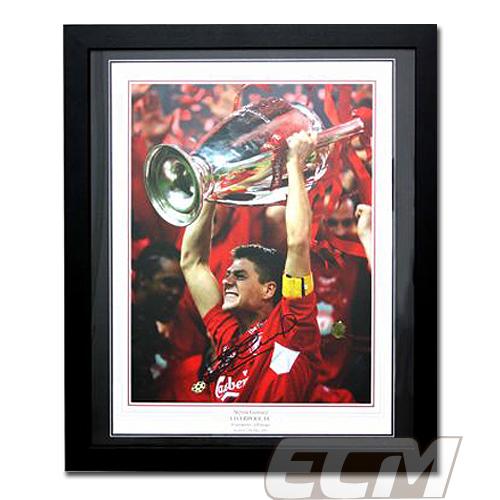 【予約ASS01】スティーブン・ジェラード 直筆サイン入フォトフレーム リバプール【サッカー/メモラビリア/プレミアリーグ/Liverpool/Gerrard】
