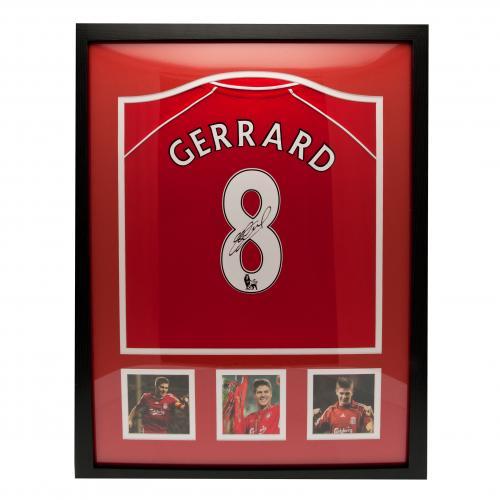 【予約ASS01】スティーブン・ジェラード 直筆サイン入額入りユニフォーム2000年モデル リバプール【サッカー/メモラビリア/プレミアリーグ/Liverpool/Gerrard】