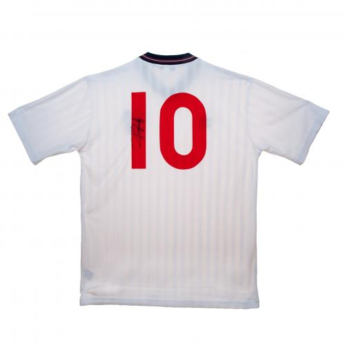 【予約ASS01】ゲーリー・リネカー 直筆サイン入ユニフォーム イングランド代表【サッカー/メモラビリア/ワールドカップ/England/Lineker】