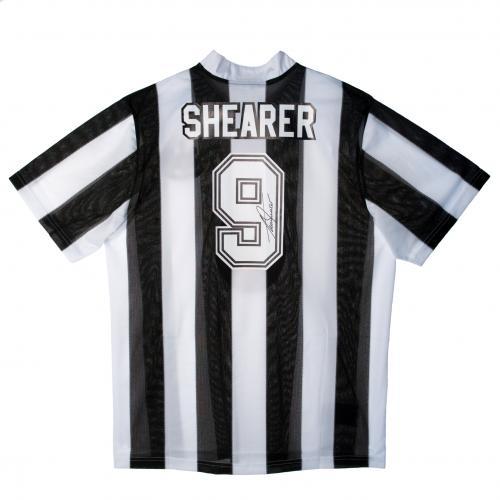 【予約ASS01】アラン・シアラー 直筆サイン入ユニフォーム ニューカッスル【サッカー/メモラビリア/プレミアリーグ/Newcastle/Shearer】