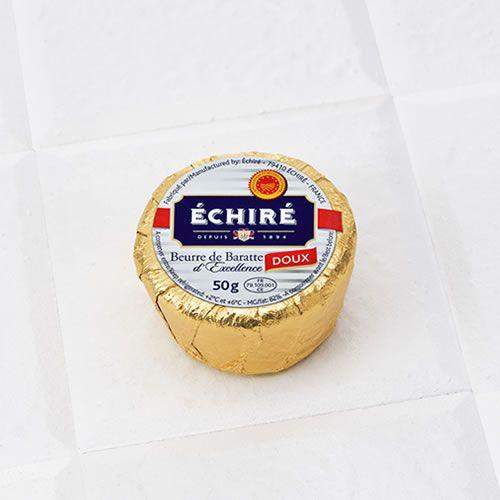 【送料無料】エシレバター食塩不使用50gポーション100個(20×5)
