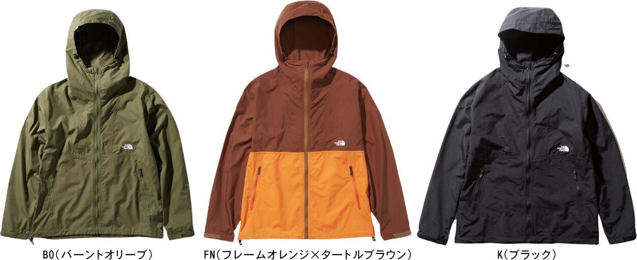 【送料無料】【あす楽】THE NORTH FACE ノースフェイス コンパクトジャケット(メンズ) Compact Jacket NP71830 BO(バーントオリーブ)・FN(フレームオレンジ×タートルブラウン)・K(ブラック)