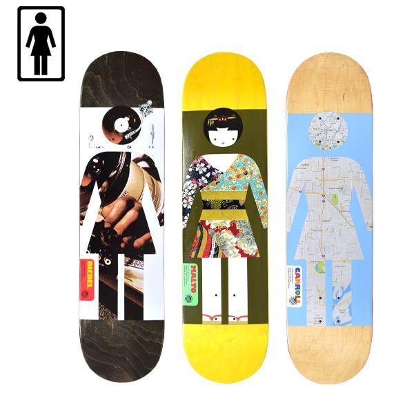 送料無料 スケートボード デッキ GIRL ガール MURASAKI APRIL DECK EE1 D25