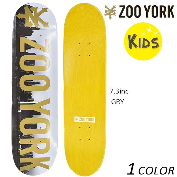 送料無料 キッズ スケートボード デッキ ZOO YORK ズーヨーク PHOTO SKYLINE EE H21