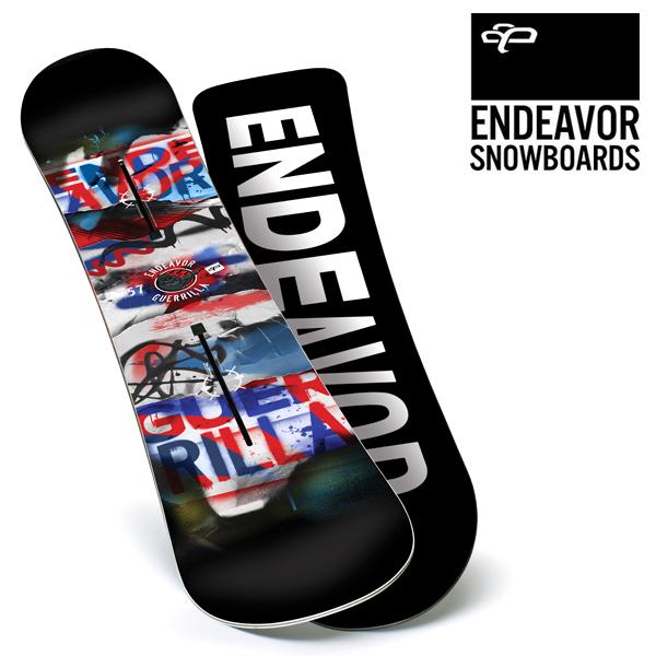スノーボード 板 ENDEAVOR エンデバー GUERILLA ゲリラ 16-17モデル メンズ E1 J8