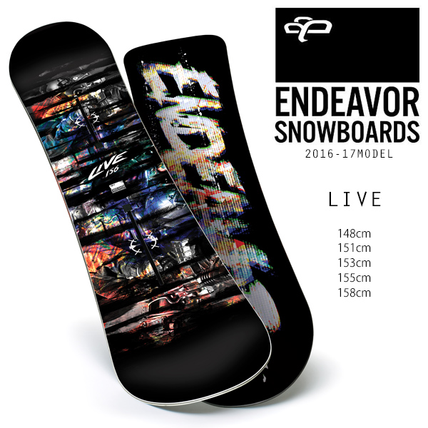 スノーボード 板 ENDEAVOR エンデバー LIVE ライブ 16-17モデル メンズ E1 J8