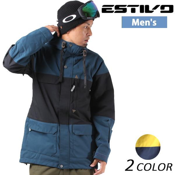 送料無料 スノーボード ウェア ジャケット ESTIVO エスティボ EV-LANDMARK JK EVM1700 17-18モデル メンズ EX J31