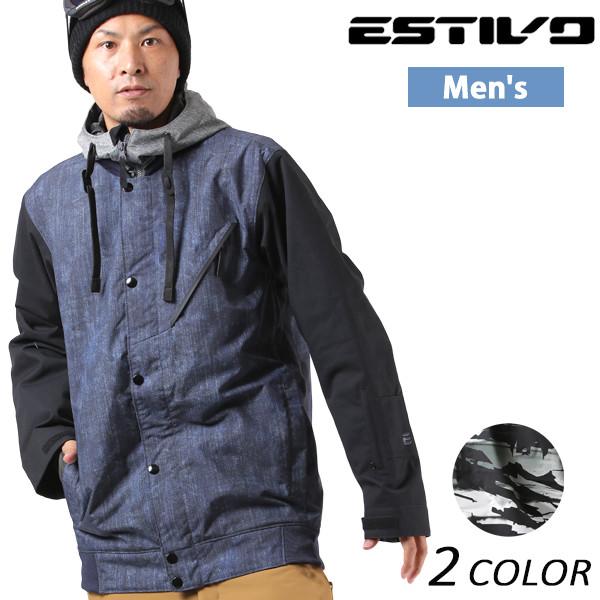 送料無料 スノーボード ウェア ジャケット ESTIVO エスティボ EV-DOPE JK EVM1712 17-18モデル メンズ EX K2