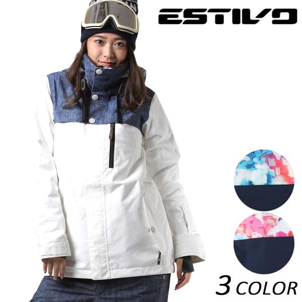 送料無料 スノーボード ウェア ジャケット ESTIVO エスティボ EV-HARMONY JK EVW1731 17-18モデルレディース EX J27