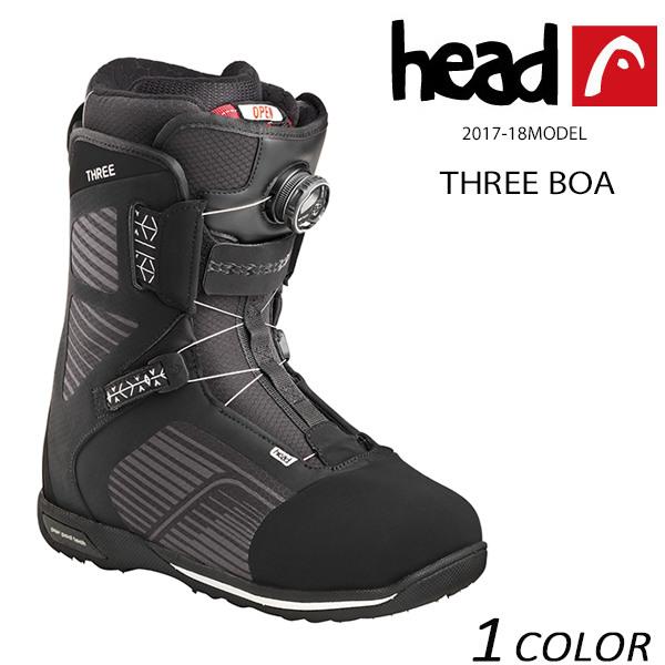 送料無料 スノーボード ブーツ HEAD ヘッド THREE BOA スリー ボア 17-18モデル メンズ EE K15