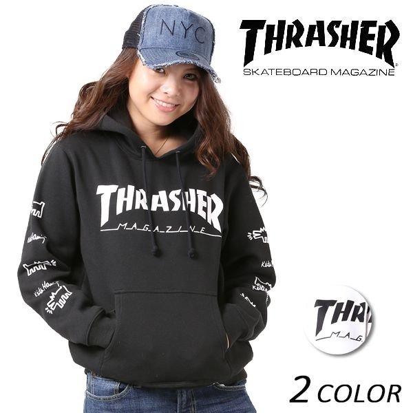 送料無料レディース パーカー THRASHER スラッシャー THKH-HD15L FF K6