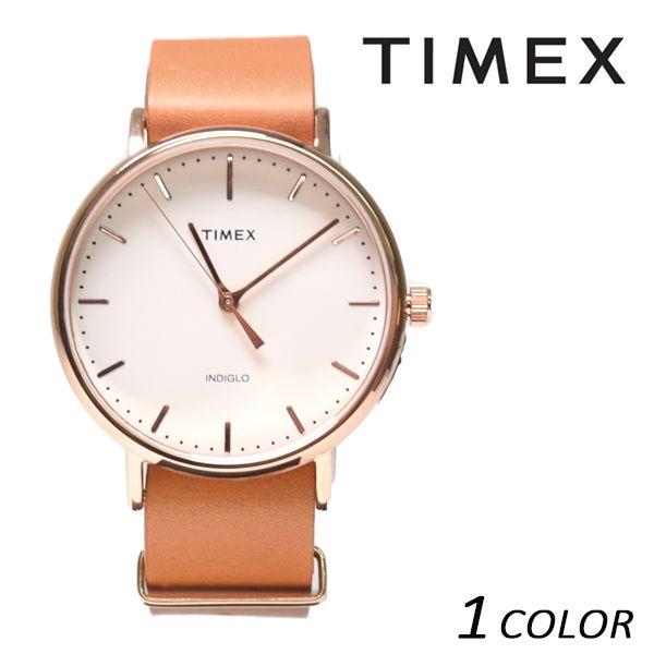 送料無料 時計 TIMEX タイメックス ウィークエンダーフェアフィールド レザーベルト41mm TW2P91200 EE K1