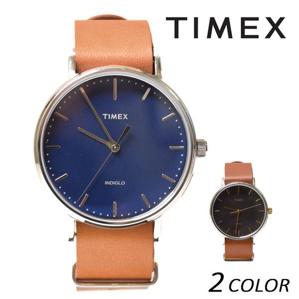送料無料 時計 TIMEX タイメックス ウィークエンダーフェアフィールド レザーベルト41mm TW2P97800 TW2P97900 EE K1