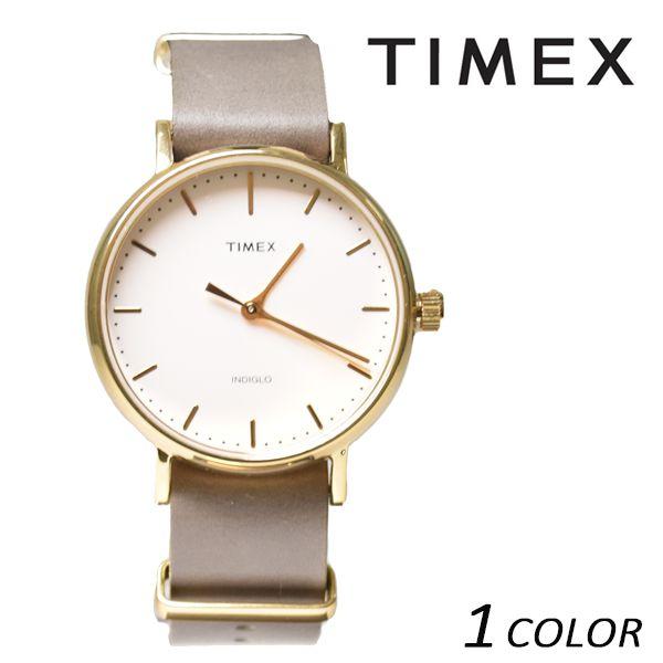 送料無料 時計 TIMEX タイメックス ウィークエンダーフェアフィールド レザーベルト37mm TW2P98500 EE K1