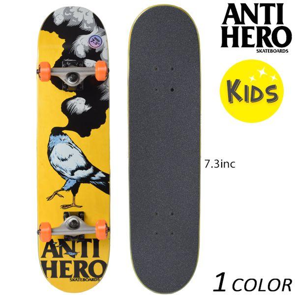送料無料 キッズ スケートボード コンプリートセット ANTIHERO アンチヒーロー AH CMPLT NEW PIGEON EE K30