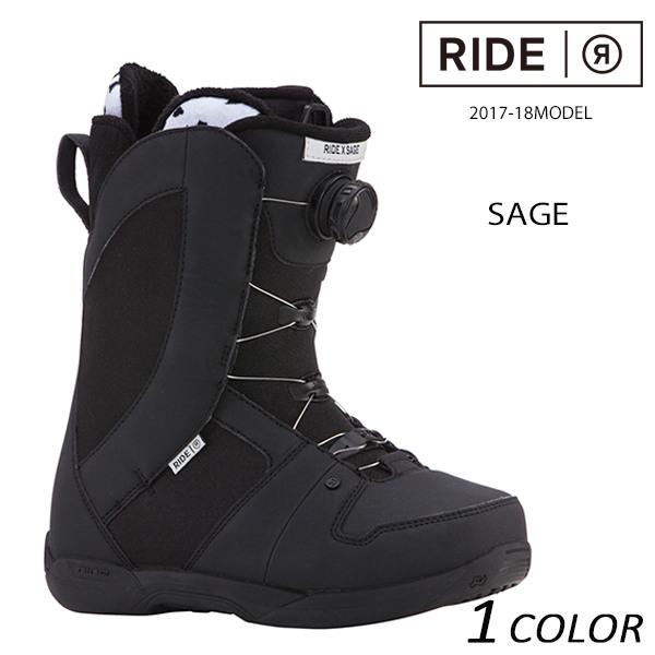 送料無料 スノーボード ブーツ RIDE ライド SAGE セイジ 17-18モデルレディース EE L19