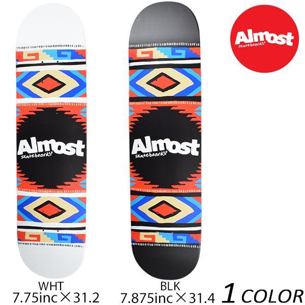 送料無料 スケートボード デッキ ALMOST オールモスト AZTEC BLANKET HYB FF A7