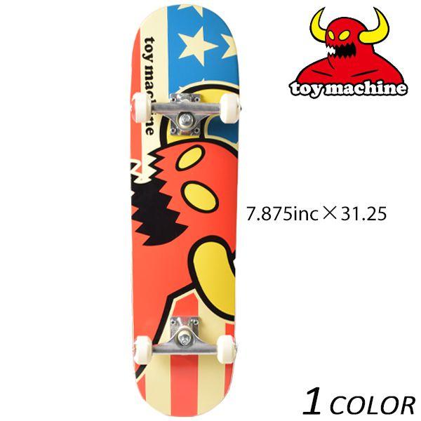 送料無料 スケートボード コンプリートセット TOY MACHINE トイマシーン SP VICE AMERICAN MONSTER C15089 FF B19