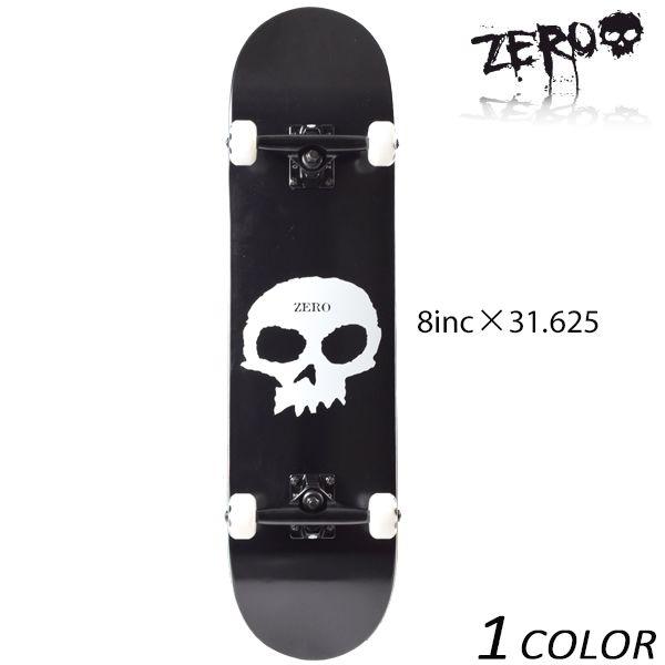 送料無料 スケートボード コンプリートセット ZERO ゼロ SINGLE SKULL シングル スカル C17007 FF B19