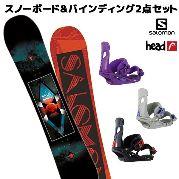 スノーボード+ビンディング 2点セット SALOMON サロモン SUBJECT MEN サブジェクト HEAD ヘッド NX MU メンズ EE L11
