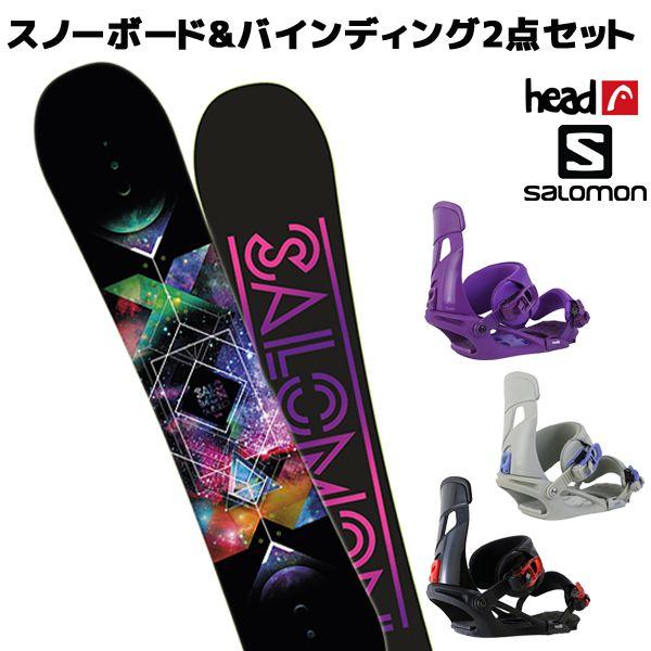 スノーボード+ビンディング 2点セット SALOMON サロモン SUBJECT WOMEN サブジェク HEAD ヘッド NX MUレディース EE L11