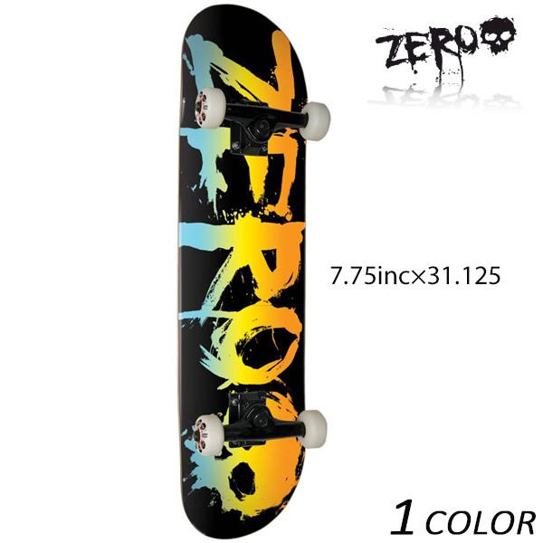 送料無料 スケートボード コンプリートセット ZERO ゼロ BLOOD BLACK / RAINBOW C17023 FF C7