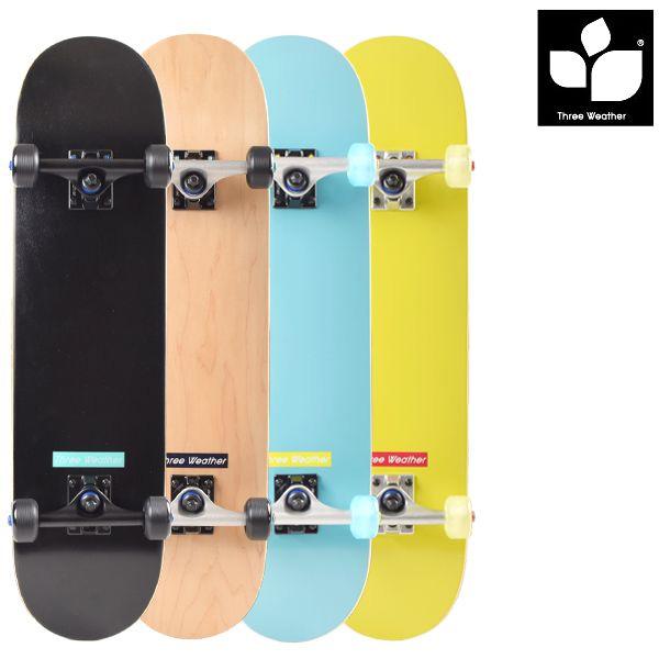 送料無料 スケートボード コンプリートセット THREE WEATHER スリーウェザー SBMR2672P FF D5
