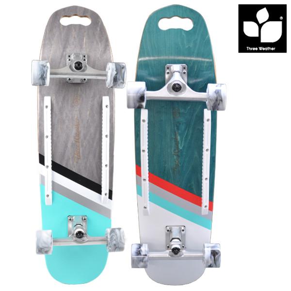 送料無料 ロングスケートボード THREE WEATHER スリーウェザー サーパスT スリーウェザー WOODY MSWP32CT FF E9