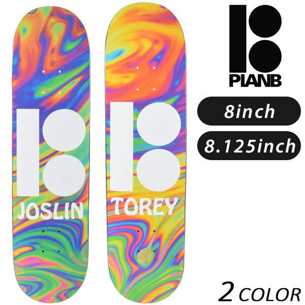 送料無料 スケートボード デッキ PLAN B プラン ビー WAVY BLACK ICE BWB GG E9