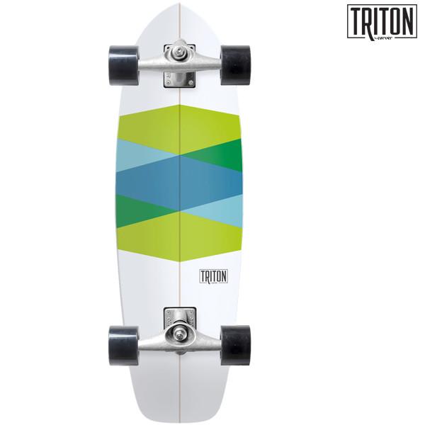 送料無料 サーフ スケートボード コンプリート CARVER カーバー TRITON GREEN GLASS CX FF F12