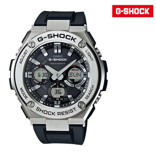 送料無料 時計 腕時計 G-SHOCK ジーショック GST-W110 電波時計 防水 耐衝撃 ソーラー充電 ソーラー電波時計 FF F22